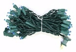 Vickerman - Light Green Wire Blue LED Wide Angle Miniature Christmas Light String Set (X6G0502)