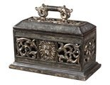 Uttermost 20413 Distressed, Antiqued Brown With Silver Leaf Highlights And Crushed Glass Accents Carolyn Kinder