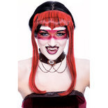 Red Halloween Wig - Chelsea Widow's Peak