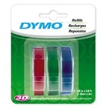 3 Count Assorted Colors Dymo Label Refill (Set of 5)