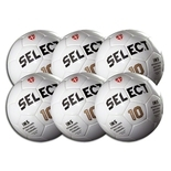 Select #10 All White Game Ball 6 Pack